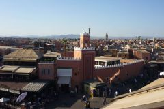 Uitzicht over Marrakech.